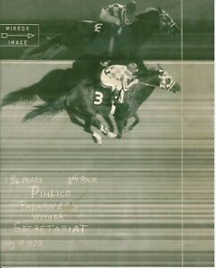 "1973 - SECRETARIAT - Preakness Stakes Finish Line Camera Photo - 8"" x 10"""