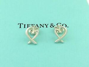 TIFFANY & CO Sterling Silver Loving Heart Earrings
