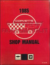 1985 Corvette Shop Manual 85 Chevy Chevrolet Repair Service Book