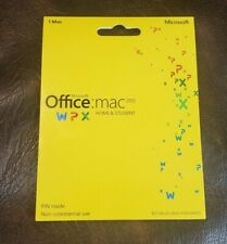 MS Microsoft Office MAC 2011 Home and Student Product Key Card - Factory Seald
