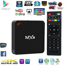 MX9 4K ULTRA HD SMART ANDROID TV BOX TV IP TV KODI DECODER HD ANDROID H.265 XBMC