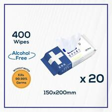 400 Packs Alcohol Free Multi Usage Disinfectant Disinfecting Wipes(150 x 200mm)