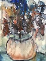 Hasworld original watercolour painting Signed, Melting Flowers,Contemporary Art