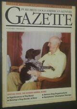 Purebred Dogs Akc Gazette German Shorthaired Pointer Cover Nov. 1989