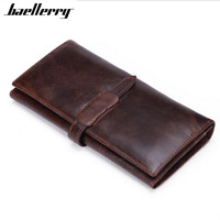 Women Genuine Leather Long Clutch Wallet Credit Card ID Holder Zip Retro Purse