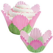 Wilton Pink Petal Disposable Paper Baking Cups, 24 Count