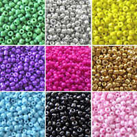 40g x Approx 2mm Size 11/0 Glass Seed Beads Jewellery Beading DIY Various Colour