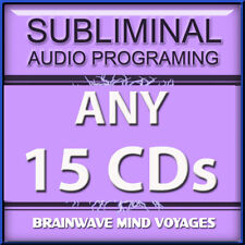 ANY 15 CDs ADVANCED MIND POWER Subliminal Hypnosis Self Help Program BIG RESULTS