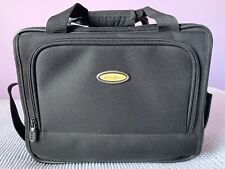 Eddie Bauer Black Small Canvas Bag Carry On Carrier Luggage Travel Weekender