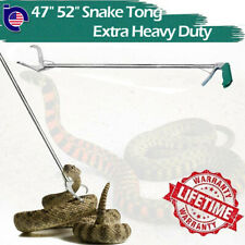 "47""52""Extra Heavy Duty Reptile Snake Tongs Grabber Rattle Snake Catcher Wide Jaw"