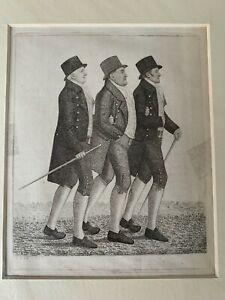 Set of 3 x Antiquarian 18th Century JOHN KAY Etchings