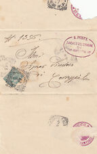 18096-EMILIA PIEGO DA CORREGGIO A S.MARTINO IN RIO POI RISPEDITA  TONDO RIQUADR.