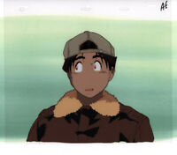 Tatsuya Egawa's Golden Boy Anime Cel Douga Kintaro Watching Reiko Lesson 5