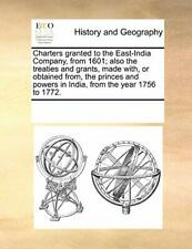 Charters granted to the East-India Company, fro, Contributors, Notes,,