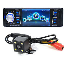 4.1'' Single DIN Bluetooth Car Player MP3 Stereo Radio USB With Rear View Camera