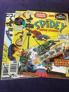 Spidey Super Stories Lot of 3 VG    #3, 23, & 41 Green Goblin, Nova