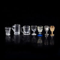 1:12 Dollhouse Miniature Kitchen Glass Beer Wine Cup Drink Bottles Decor TEES