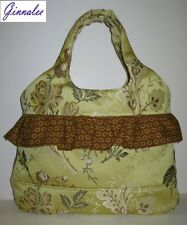 Yellow Gold tapestry handbag