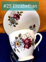 Elizabethan Fine Bone China Teacup And Saucer Set.  English.