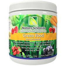 Natural Greens Food Powder By Naturo Sciences, Berry Flavor 8.5oz, 30 Svg