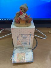 "Cherished Teddies Douglas ""Let's Be Friends"" 1992 Figurine Signed by P Hillman"