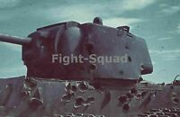 WW2 Picture Photo Russia Aug 1942 Wrecked KV-1 tank by German panzer tanks 1466