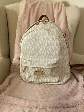 Michael Kors Backpack Handbag Logo Cream MK Bag