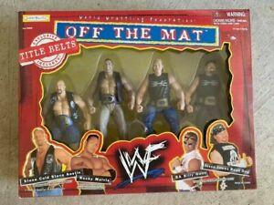 1998 WWF Jakks Off The Matt 4 Pack Box Set: Austin, Rock, New Age Outlaws WWE