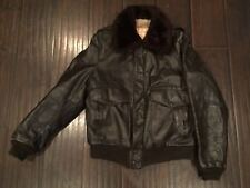 Vintage?? Excelled Premium Leather Sheepskin Bomber JACKET Sz 40 Made In USA????
