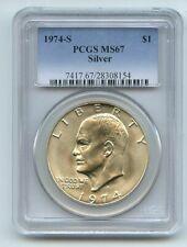1974 S $1 Silver Ike Eisenhower Dollar PCGS MS67