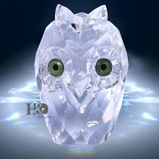 Clear Crystal Facet Owl Paperweight 3D Figurine Animals Glass Collectibles Gifts