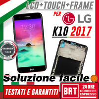 DISPLAY LCD+TOUCH SCREEN+FRAME ORIGINALE X LG K10 2017 M250 M250N SCHERMO VETRO!