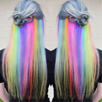 Long Straight Color Hair Clip in One Piece Hair Synthetic Extensions Hair Strand