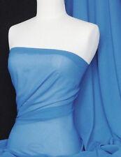 Azul Aciano tacto suave material de tela de gasa pura Q354 crnbl