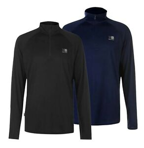 Mens Karrimor Long Sleeve Breathable Quarter Zip Running Top Sizes from S to XXL