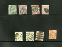 Great Britain Classic Used Stamp Group of 8 Scott Value $1,300.00