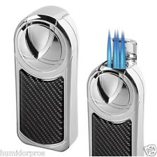 VISOL Dobrev 5 Jet Torch Carbon Fiber Large Capacity Butane Table Lighter