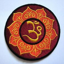 #08 Beautiful Aum Om Symbol Hinduism Embroidered Iron on Patch Free Shipping