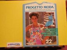 ART 9.355 CARTAMODELLO N 22 PROGETTO MODA CORSO DI TAGLIO E CUCITO IN 26 LEZIONI