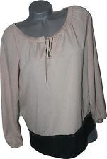 NWT LA PERLA Italy 44 8 designer pleated neckline top beaded Villa Toscana luxe