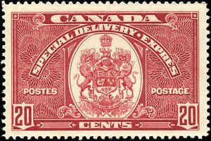 Canada Mint H F-VF 20c Scott #E8 1938 Special Delivery Stamp