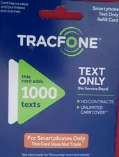 TRACFONE (Text Only) 1000 TEXTS for Smartphone . Delivered thru eBay messaging.