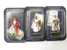 3 x 1/32 scale Metal Figures Knights Soldiers Medieval Army 54mm