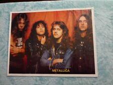 Metallica Poster Vintage 1983 Cliff Burton 17x23 rare . Kill Em All