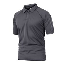 TACVASEN Mens Quick Dry Tactical Combat Polo T-Shirt Military Hunting Top Shirts