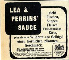 Lea & Perrins Worcester Lea & Perrins 'salsa Pubblicità storico di 1910