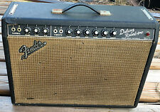 1967 Blackface Fender Deluxe Reverb Combo Amp