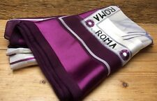 Pretty Purple Neckscarf/Headscarf/Retro/1980's/90's/Scarf/Roma & Flower Design