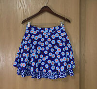 kate Spade Tangier Floral Double Layer Silk Skirt Womens Size 6 New