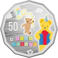 2016 Australia 50c Choice UNC Coin 50 Years of Play School Big Ted & Little Ted